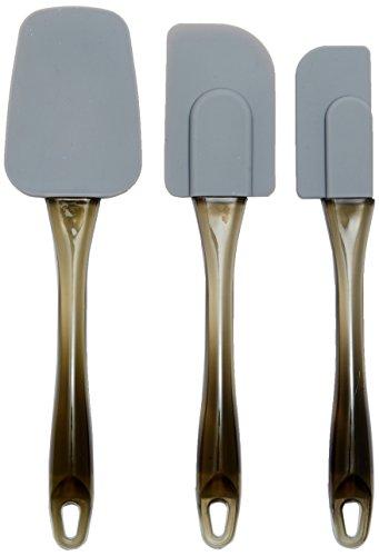 AmazonBasics - Spatole in silicone, set da 3 pezzi