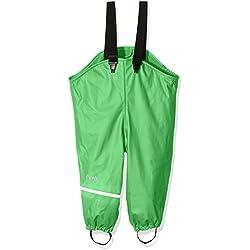 CareTec Kinder wasserdichte Regenlatzhose mit Fleecefutter (verschiedene Farben), Grün (Green 974), 116
