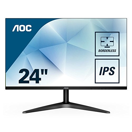 "AOC 24B1XHS 23.8"" LED Monitor withHDMI/VGA Port, Full HD, Wall Mountable, 3 Side Borderless"