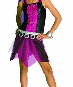 Monster High - Disfraz de Spectra Vondergeist para niña, infantil 8-10 años (Rubie's 881363-L)