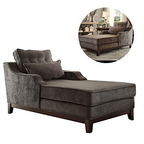 Divani Chaise Longue reclinabile in Legno massello reclinabile, Poltrona Lounge Extra Larga