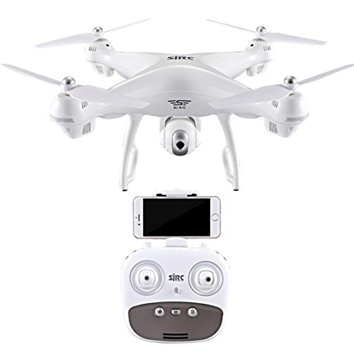 MMLC S70W 2.4GHz GPS FPV Drone Quadcopter with 1080P HD Camera Wifi Headless Mode (white)