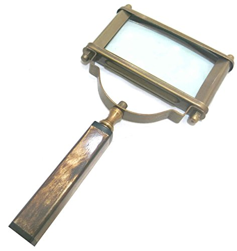 """Ages Behind Brass Magnifier 5"""" with Resin Handle Magnifying Glass for Reading and Study Decorative Item"""