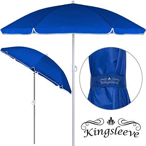Kingsleeve Sonnenschirm 2 TLG. höhenverstellbar | transportierbar 180cm 1kg leicht | wasserabweisend | Strandschirm Gartenschirm