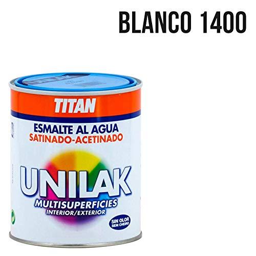 Titan M3526 - Esmalte al agua unilak satinado blanco 4 l