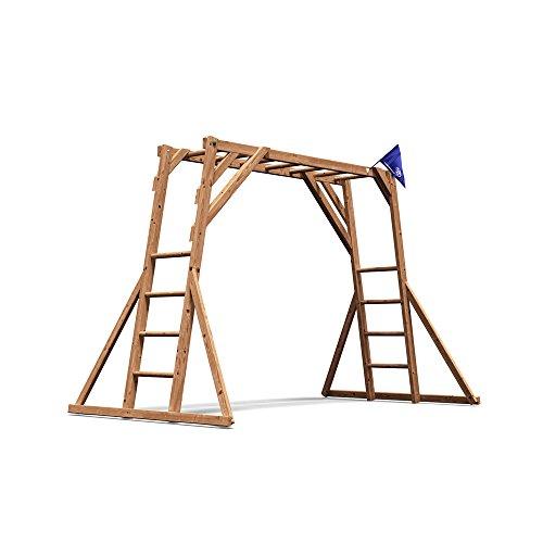Kids Monkey Bars Childrens Wooden Climbing Frame UK - Dunster House ...