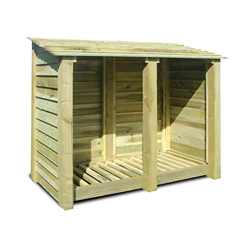 COTTESMORE 4FT WOODEN LOG STORE Conclusion,  We would recommend this model for those in search of a high-quality log store that can store more than 1m3 of logs, the advantage this has over our best pick is it can hold around 45% more logs. Its also worth noting that it comes with all the holes pre-drilled and only reviews screws to build but being heavy don't forget to have a second pair of hands handy.