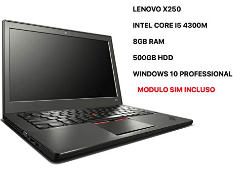 Lenovo ThinkPad X250 ULTRABOOK - 8 GB RAM - 500GB - MODULO SIM -WINDOWS 10 PROFESSIONAL...