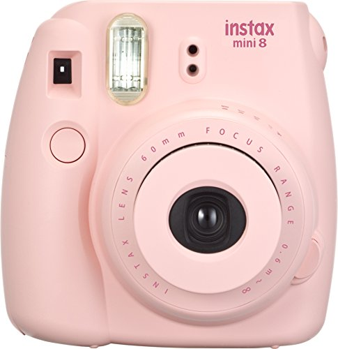 Fujifilm Instax Mini 8 - Cámara instantánea (flash, 1/60 sec), color rosa