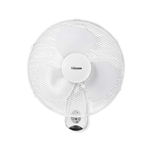 Tristar VE-5875 - Ventilatore da parete, Ø 40 cm, telecomando/timer, colore: Bianco