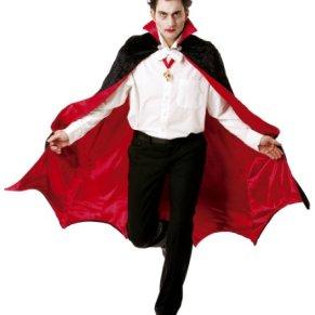 César B889-003 - Capa para disfraz de vampiro, talla 48-50, color rojo y negro