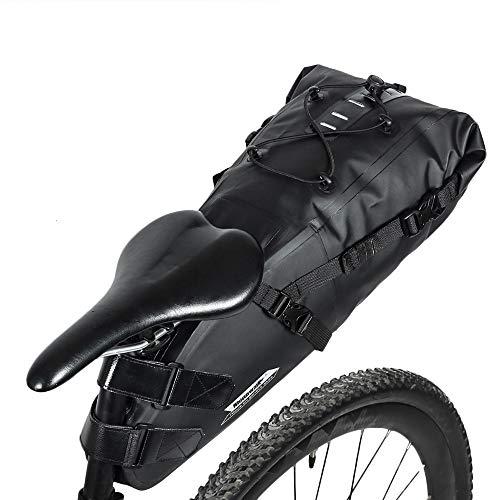 Lixada Borsa da bicicletta 10L+ Borsa da sella per bicicletta, Borse da viaggio impermeabili,...