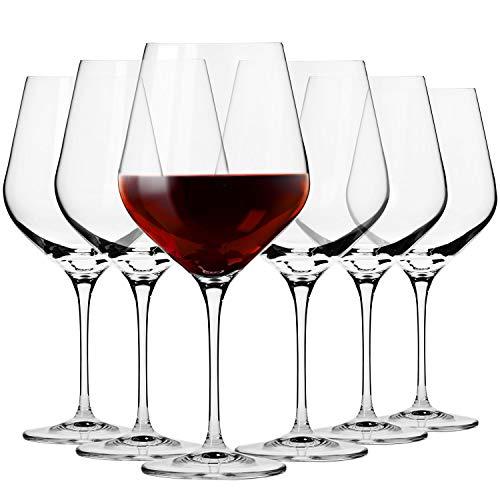 Krosno Bicchieri Calice Vino Rosso Burgund   Set di 6   860 ML   Collezione Splendor   Ideale per la...
