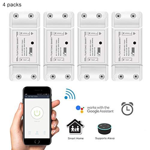 WiFi Smart Switch Google Home e App Controllo, AOZBZ Telecomando Senza Fili Relay Interruttore...