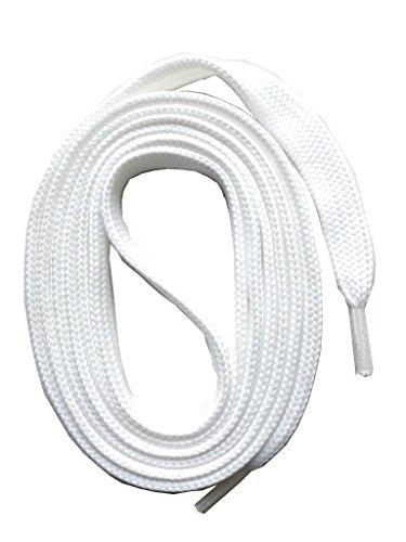 SNORS 3 Paar flache Schnürsenkel WEISS 130cm, 7-8mm, reißfest, Polyester, Made in Germany für Sportschuhe Sneaker Turnschuhe und Laufschuhe - ÖkoTex