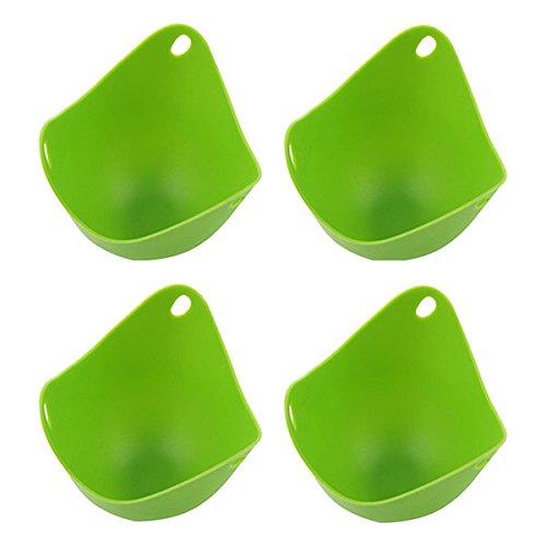 BESTOMZ 4pcs silicona vapor caldera utensilios hueveras caza vainas / para horno molde (verde)