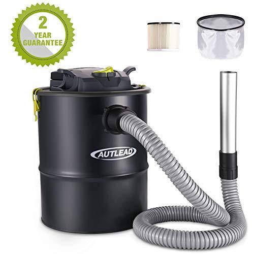 Aspiracenere, AUTLEAD 900w 15L Bidone Aspiracenere Elettrico, Sistema di Filtrazione HEPA, Prova di...