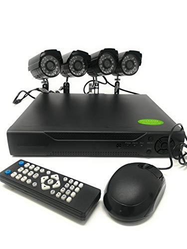 tempo di saldi Kit Videosorveglianza 4 Canali Telecamere Infrarossi Dvr Alimentatori Prolunghe