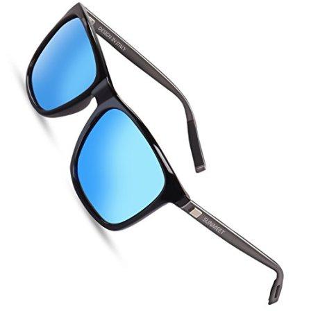 SUNMEET-Gafas-de-sol-Hombre-Polarizadas-Clsico-Retro-Gafas-de-sol-para-Hombre-UV400-Protection-S1001AzulPistola