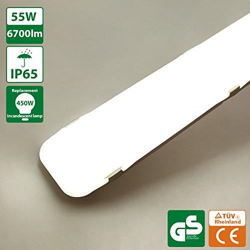Oeegoo Plafoniere LED 150CM, LED Tubo Luce, 55W 6700LM Plafoniera da Officina, IP65 Impermeabile LED...