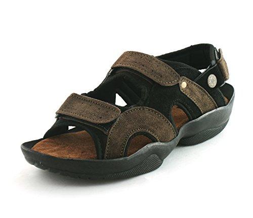 Fucasso Men's Leather Green Sandals-9UK