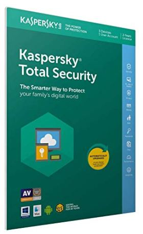 Kaspersky Total Security 2019 Mise à jour | 3 Postes | 2 An | PC/Mac/Android/iOS |