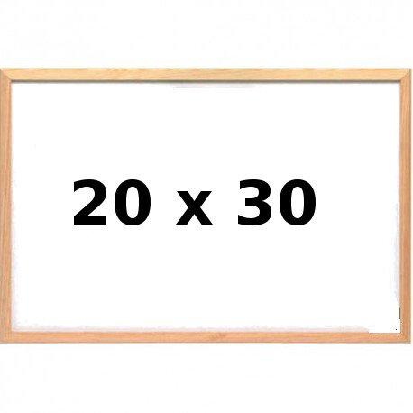 Lavagna Bianca con Cornice in Legno 20 x 30
