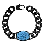 ZIVOM Salman Khan Rope Black Rhodium Plated Turquoise 316L Surgical Stainless Steel Bracelet Men Gift