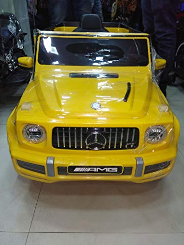 """Gomani """"G Wagon Yellow Kids Toy Car with Rechargeable Battery Operated Ride On (Yellow)"""