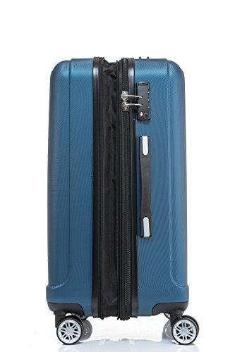 BEIBYE TSA-Schloß 2080 Zwillingsrollen 3 tlg. Reisekofferset Koffer Kofferset Trolley Trolleys Hartschale (Hellblau) - 6