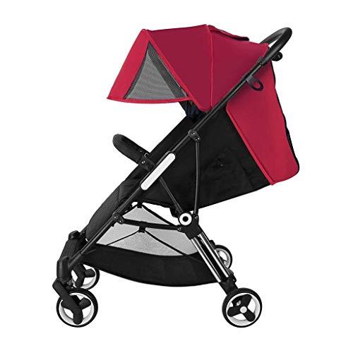 LLYU Passeggini-0-3 anni Carrello Pieghevole portatile Carrello Umbrella Ultra Leggero Carrello...