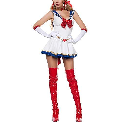 iBaste-Moda-Mujer-2018-Blanco-Disfraz-de-Halloween-Sexy-Sailor-Moon-Cosplay-Movie-Girl-Traje-de-Dibujos-Animados-de-Mercurio