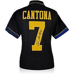 Manchester United 1994 Camiseta negra, firmada por Eric Cantona