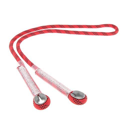 F Fityle Cordón Prusik para Escalada Construcción Barranquismo y Actividades Al Aire Libre Profesional - Rojo 120cm