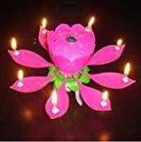 Ankee R compleanno candela fioritura Lotus candele Musical Lotus rotante
