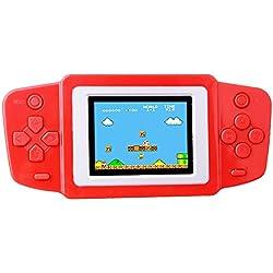 """Kids Classic Retro Game Handheld Tragbarer Video-Konsole wiederaufladbar Player 2.5"""" LCD 8 Bit 268 in 1 Spiele"""