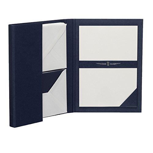 Rössler 1026831009 - Paper Royal - Briefpapiermappe DIN A5/C6, 15/15, blau/weiß gerippt
