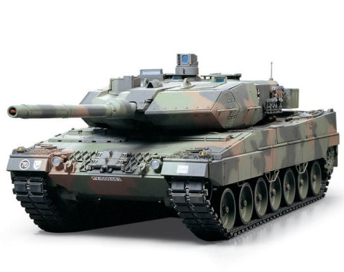 TAMIYA 300056020 - Carro armato Leopard 2A6 Full Option Kit, 1:16, 4 Canali, 40 MHz, telecomandato con suoni e luci