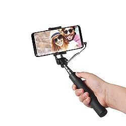 Kaufen Power Theory Selfie Stick - Ohne Akku mit Aux Kabel Auslöser, Selfiestick für Samsung Galaxy S 9S8 S7 Edge S6, iPhone X 8 7 6s Plus 6 und Alle Smartphones - Handy Halter Stativ Selfi Stange Monopod