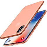 TOZO for iPhone X Case, PP Ultra Thin [0.35mm] World's Thinest Protect Hard Case [ Semi-transparent ] Lightweight [Matte Pink]