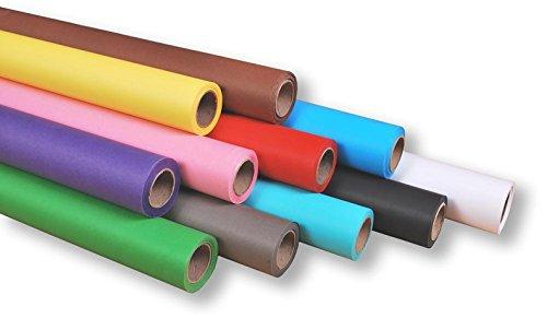 moderntex 3 Rollen Hintergrundkarton freie Farbwahl 10m x 2,72m, Papierhintergrund 160g/m²