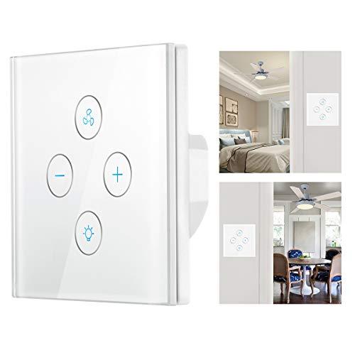 Smart WiFi Light Switch, Lemonbest WiFi Smart Ventilatore a soffitto Light Wall Switch APP Timer...