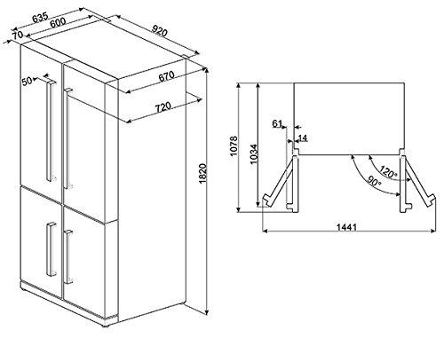 Smeg FQ60X2PE frigorifero side-by-side