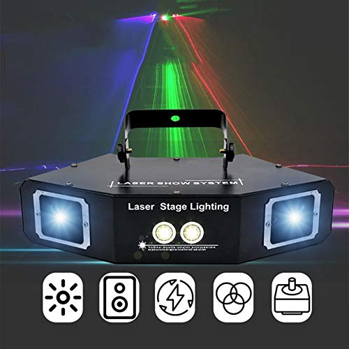 FAKER LED Derby Effect Projection Lights LED luci da Discoteca Sound Activated Stage Lighting 60W...