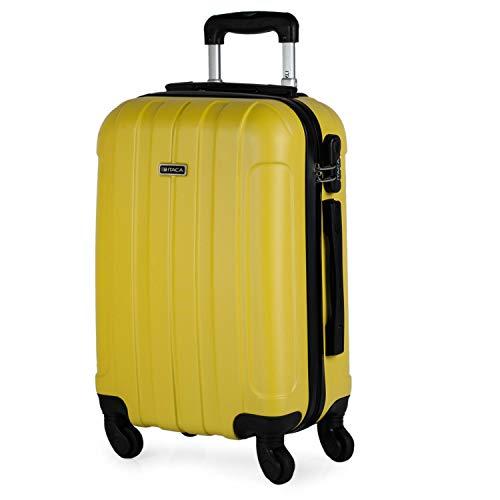 ITACA - Valigia rigida Travel Cabin 4 ruote trolley 55 cm ABS. Bagaglio a mano. Resistente e leggero...