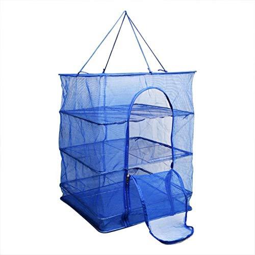 Pieghevole 4 Strati Fish Net Stendino Pieghevole Rete Appesa Verdure Stoviglie Asciugacapelli Appendiabiti Accessori da Pesca (Dimensione : XL)