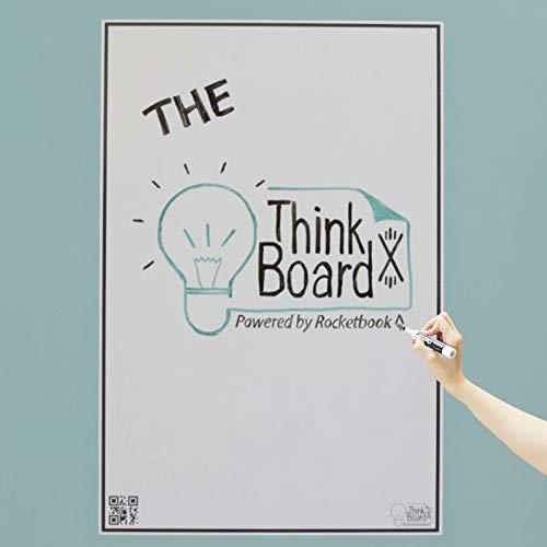 Think Board X Rocketbook Smart Stick-Up Whiteboard - Lavagna bianca - 600x900mm - Trasforma...