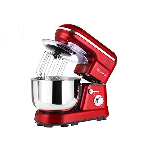 HUAYUU Robot da cucina potente impastatrice silenziosa 1200 W (5 velocità 5 litri in acciaio...