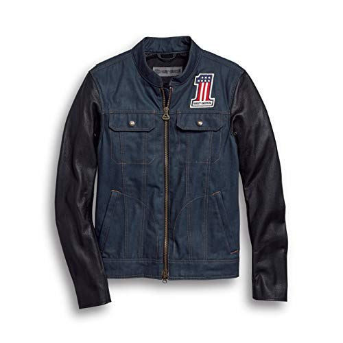 HARLEY-DAVIDSON Men's Arterial Abrasion-Resistant Denim Riding Jacket