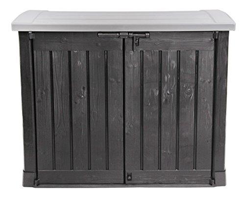Ondis24 Gartengerätebox Mülltonnenbox Gartenmöbelbox Poolbox Gartenbox Arc, anthrazit, für 2...
